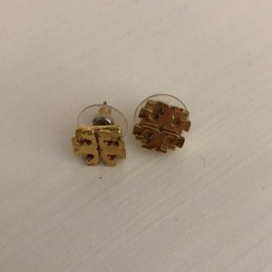 Gold Tory Burch earrings